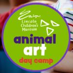 child drawing, animal figurines